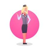 Occupazione del professionista del lavoratore della squadra di Man Icon Airport dell'hostess Fotografia Stock