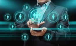 Occupazione di assunzione della gestione di ora delle risorse umane che caccia teste concetto Immagine Stock