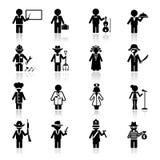 Occupazione e carriera fissate icone Fotografie Stock Libere da Diritti