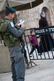 Occupazione israeliana a Hebron Fotografia Stock