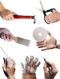 Occupazione, lavoro, job, carriere, economia, Han lavorante Fotografie Stock Libere da Diritti