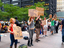 Occupez la protestation de Wall Street Photos stock