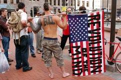 Occupez la protestation de Wall Street Photos stock