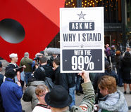 Occupez la protestation de Wall Street Photos libres de droits