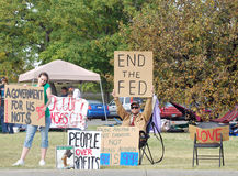 Occupez les protestataires de Kansas City photo stock