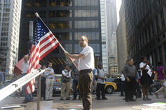 Occupez Wall Street. Image stock