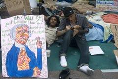 Occupez Wall Street. Image libre de droits