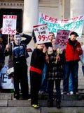 Occupi i protestatori al giorno nazionale di azione Fotografia Stock Libera da Diritti
