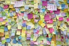 Occupi il movimento centrale, Hong Kong Immagini Stock