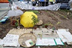 Occupi il movimento centrale, Hong Kong Immagine Stock Libera da Diritti