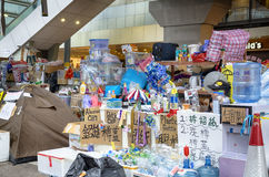 Occupi il movimento centrale, Hong Kong Fotografie Stock Libere da Diritti