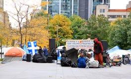 Occupi il movimento a Montreal Fotografie Stock Libere da Diritti