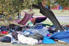 Occupi l'accampamento di Kansas City Fotografie Stock
