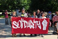 Occupi l'anniversario di protesta in Ottawa Fotografie Stock Libere da Diritti