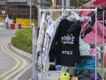 Occupi l'arte di area - la rivoluzione dell'ombrello, Ministero della marina, Hong Kong Fotografia Stock