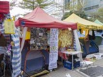 Occupi l'arte di area - la rivoluzione dell'ombrello, Ministero della marina, Hong Kong Immagine Stock