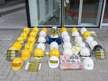 Occupi l'arte di area - la rivoluzione dell'ombrello, Ministero della marina, Hong Kong Immagine Stock Libera da Diritti