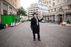 Occupi la borsa valori marzo di Londra Fotografia Stock