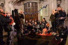Occupi la democrazia non sarà ritorno silenzioso al quadrato del Parlamento Immagine Stock Libera da Diritti