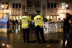 Occupi la democrazia non sarà ritorno silenzioso al quadrato del Parlamento Fotografia Stock Libera da Diritti