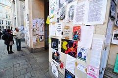 Occupi la parete dei protestatori di Londra Immagine Stock Libera da Diritti