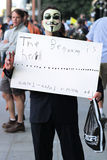 Occupi la protesta Fotografia Stock