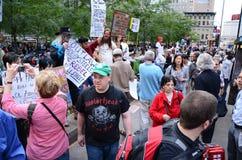 Occupi la protesta del Wall Street Immagini Stock Libere da Diritti