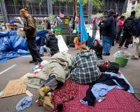 Occupi la protesta del Wall Street Fotografia Stock Libera da Diritti