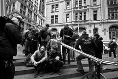 Occupi la protesta del Wall Street Fotografie Stock