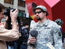 Occupi la protesta del Wall Street Fotografia Stock