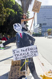 Occupi la protesta della LA del Wall Street a Los Angeles Immagini Stock
