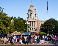 Occupi la protesta di Denver - 14 Immagine Stock Libera da Diritti