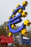 Occupi le proteste di Francoforte Fotografia Stock