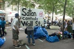 Occupi Wall Street. Immagini Stock