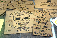 Occupi Wall Street. Fotografia Stock Libera da Diritti