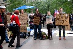 Occupi Wall Street alla sosta di Zuccotti Fotografia Stock Libera da Diritti