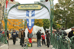 Occupi Wall Street a Montreal (Quebec Canada) fotografia stock libera da diritti