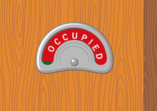 Occupied. Illustration of an occupied sign Royalty Free Stock Photo