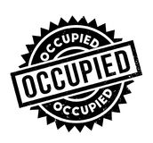 Occupied rubber stamp Royalty Free Stock Photos