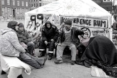 OCCUPIED WALL STREET(USA) Stock Photography