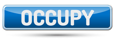 OCCUPY - Abstract beautiful button with text. Stock Photo