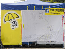 Occupy area art - Umbrella Revolution, Admiralty, Hong Kong Stock Photos