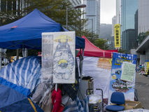 Occupy area art - Umbrella Revolution, Admiralty, Hong Kong Royalty Free Stock Photos
