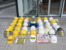Occupy area art - Umbrella Revolution, Admiralty, Hong Kong Royalty Free Stock Image