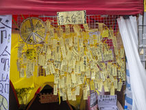 Occupy area art - Umbrella Revolution, Admiralty, Hong Kong Stock Image