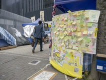 Occupy area art - Umbrella Revolution, Admiralty, Hong Kong Royalty Free Stock Photo
