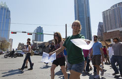 Occupy Austin - October 15 Protest March Stock Photo