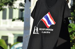 Occupy Bangkok T-Shirt sold from a street stall Royalty Free Stock Images