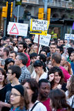 Occupy Barcelona, Spain Royalty Free Stock Photo