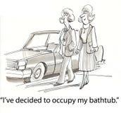 Occupy bathtub Stock Photography